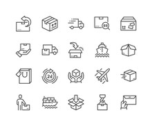 Line Delivery Icons Sticker