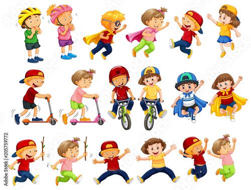 Wall mural A Set of Urban Kids Activities