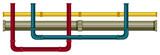 Underground Pipe on White Background - 205760108