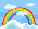 A Beautiful Rainbow Over the Sky