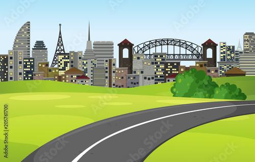 Obraz na płótnie A Road to the Big City
