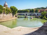 Tiber river in Rome in the sunny day - 205769501