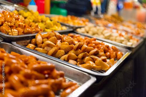 Aluminium Bangkok Sausages Displayed At Local Food Market