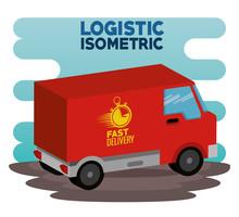 Delivery Service Concept  Van Vehicle  Illustration Design Sticker