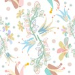 Floral seamless pattern can be used for wallpaper, website background, textile printing. Hand drawn endless vector illustration of flowers on light background. Flower theme. Summer collection. - 205791723