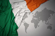 waving national flag of ireland. - 205792567