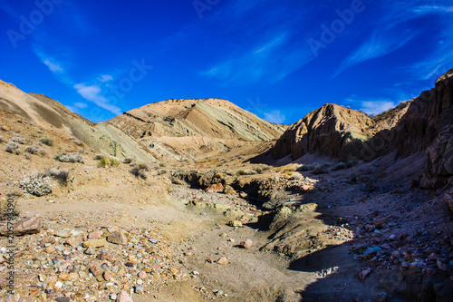 Canvas Donkerblauw Rainbow Basin Mojave Desert Slot Owl Canyon