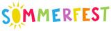 Sommerfest - Fröhlich bunte Buchstaben mit O als Sonne - 205793718