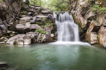 A wild waterfall in the Polish Carpathians (Beskid Sądecki) © Pawel