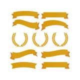 Laurel wheat awards heraldry antiquity. Winner triumph and success vector laurel - 205807768