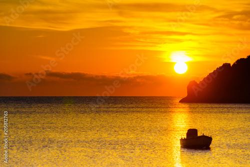 Fotobehang Zonsopgang Sunrise or sunset over sea surface