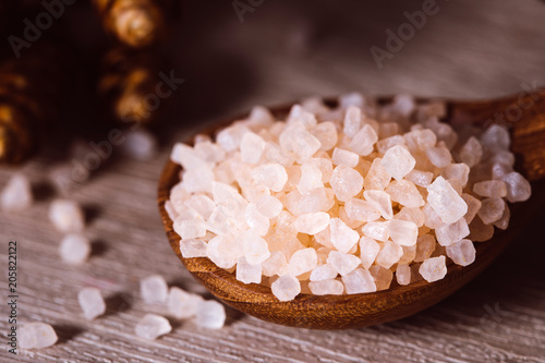 Aluminium Spa brown organic Himalayan rock salt spa , healthy spa relaxation concept