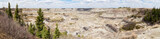 Horseshoe Canyon, Alberta, in the spring; panorama view of Alberta Badlands near Drumheller