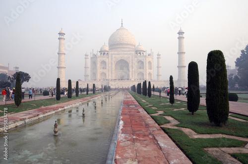 Taj Mahal Grabmal, UNESCO-Weltkulturerbe, Agra, Uttar Pradesh, Indien, Asien
