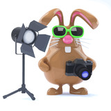 3d Chocolate Easter bunny in the studio