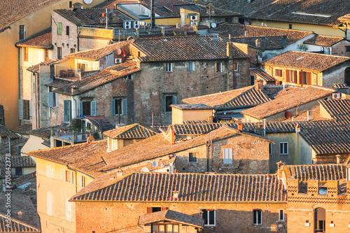 Aluminium Toscane View of the rooftops, Siena, Tuscany, Italy