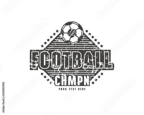 Template emblem for football team