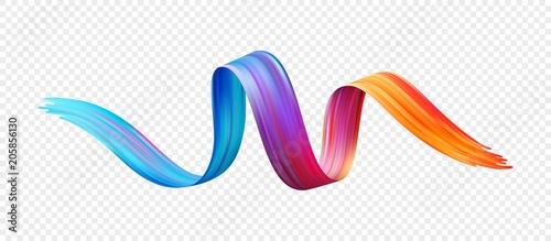 Kolor pędzla olej lub farba akrylowa element projektu. Ilustracji wektorowych