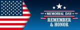 Header Memorial Day Honor USA Flag - 205863950