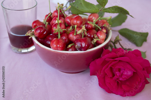 Foto Murales Vino e ciliegie... con amore