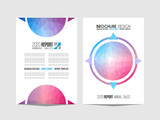Brochure template, Flyer Design or Depliant Cover for business purposes. Elegant layout