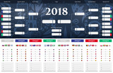 Football/soccer Match schedule vector illustration. Tableau des Matches - RUSSIE 2018 - 205867154