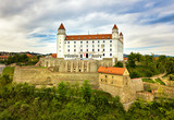 View on Bratislava castle and old town.