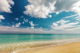 Perfect sandy beach Transparent calm tropical sea