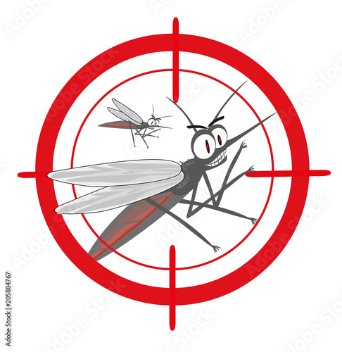mosquitoes with mosquito target. - 205884767