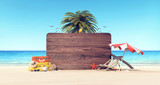 Summer time holiday background 3D Rendering