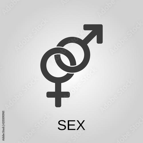 Sex icon. Sex symbol. Flat design. Stock - Vector illustration