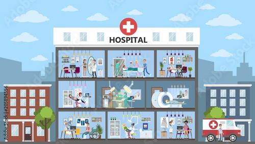 Hospital city building.