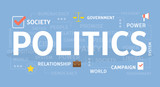 Politics concept illustration. - 205895316