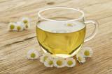 Cup of healthy daisy tea