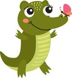 a nice crocodile vector