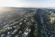 Aerial view of the South Beverly Park neighborhood above Beverly Hills and Los Angeles in Southern California.
