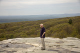 Man on Sam's Point overlook, New York
