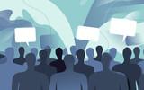 Persone della società civile che commentano e dibattono - 205908524