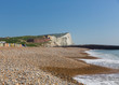 Quadro Seaford beach and coast East Sussex uk with beautiful white chalk cliffs and waves