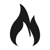 Flame Icon. flat style isolated on white background. Vector