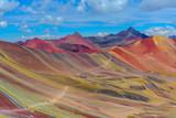 Fototapeta Tęcza - Vinicunca, also known as Rainbow Mountain, near Cusco, Peru © Noradoa