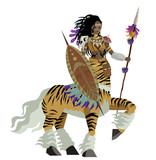 african tiger female centaur huntress - 205927359