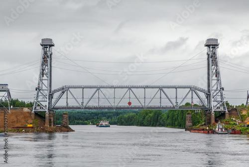 Sticker Podporozhsky drawbridge, Russia