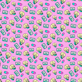 Seamless pattern art.  Club Party Mood background. Use for t-shirt, greeting cards, wrapping paper, posters, fabric print. Fashion designer Sketch - 205931716