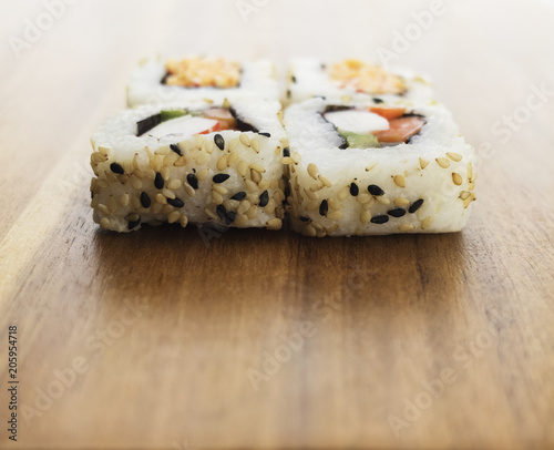 Fotobehang Sushi bar California Sushi Rolls