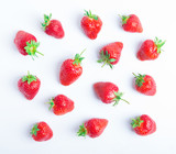 Strawberry isolated on white background. Clipping Path - 205955725