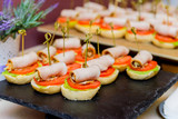 Catering. Off-site food. Sandwiches, hamburgers and snacks - 205957125