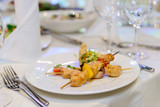 beautifully served table in a restaurant - 205957507