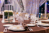 beautifully served table in a restaurant - 205957533