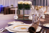 beautifully served table in a restaurant - 205957591